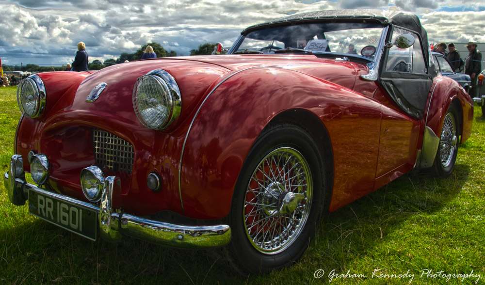 Triumph TR2 with HDR processing